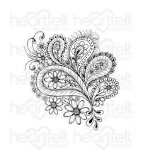 Heartfelt creations - Peacock Paisley