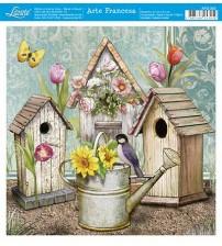 Litoarte - Arte Francesa - Casa Passarinho C/ Regador De Flowers