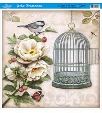 Litoarte - Arte Francesa Quad - Cage Bird