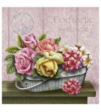 Litoarte - Arte Francesa Quad - Flower Basket