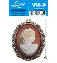 Litoarte - Aplique - Camafeu Ouro
