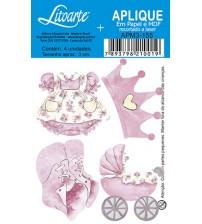 Litoarte - Aplique - Vestido , Coroa , sapatinhos