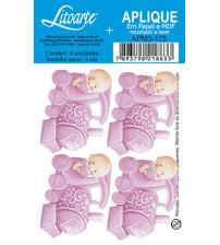 Litoarte - Aplique - Bebe Trenzinho Rosa