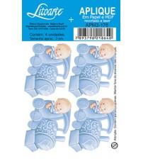 Litoarte - Aplique -  Bebe Trenzinho Azul