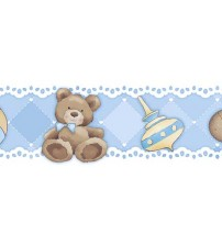 Litoarte - Adhesive Bar - Male Baby: Blocks, Mobile, Cavalinho