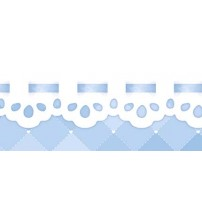 Litoarte - Adhesive Bar - Blue Background With White Income