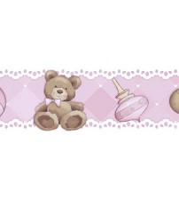 Litoarte - Adhesive Bar - Feamale Baby: Blocks, Mobile, Cavalinho