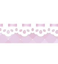 Litoarte - Adhesive Bar - Pink Background With White Income