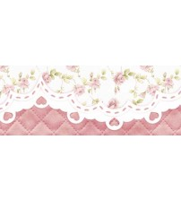 Litoarte - Adhesive Bar - Rose With Pink Background
