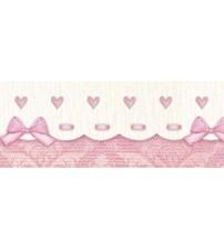 Litoarte - Adhesive Bar - Rose , Lacinhos , & Rosa Hearts