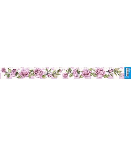 Litoarte - Barra Adesiva - Rosas Shabby Chic