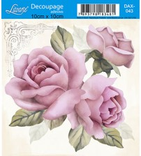 Litoarte - Decoupage Adesivo - Rosas Shabby Chic