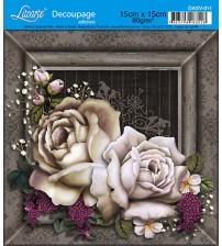 Litoarte - Decoupage Adesivo - Rosas Coloridas
