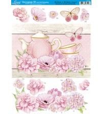 Litoarte - Decoupage Hot 3D - Shabby Flowers