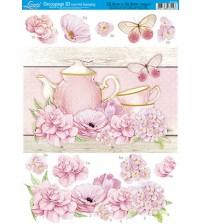 Litoarte - Decoupage Hot 3D - Shabby Flowers