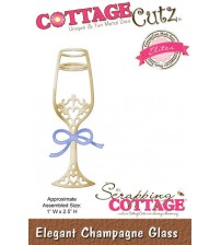 Cottage Cutz - Elegant Champagne Glass Die