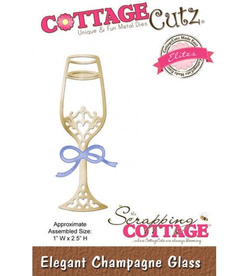 Cottage Cutz - Elegant Champagne Glass Die