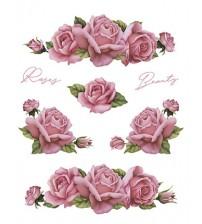Litoarte - Decalque - Rosas