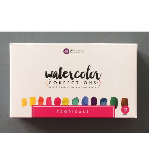 Prima - Watercolor Confections Pan Sets - Tropicals