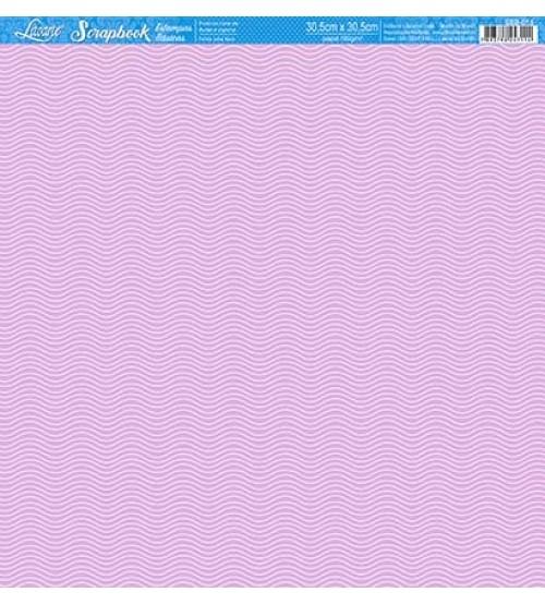 Litoarte - Scrapbook - Ondulado Brancas, Fundo Rosa