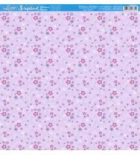 Litoarte - Scrapbook - Horido Rosa E Lilas Fundo Rosa