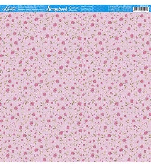 Litoarte - Scrapbook - Rosinha Fundo Rosa