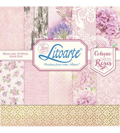 Litoarte - Adhesive Bar - Garden Roses, Flowers