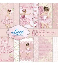 Litoarte - Scrap Decor Bloco - Bailarinas