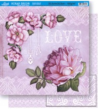 Litoarte - Double Face Scrap - Flowers Shabby /  Rondas