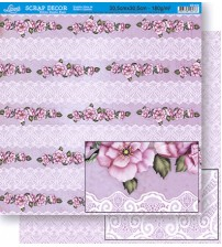 Litoarte - Double Face Scrap -  Flower And Shabby Income