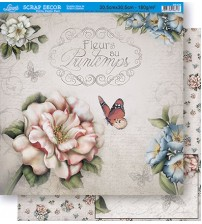 Litoarte - Double Face Scrap - Various Pattern Flowers