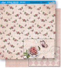 Litoarte - Double Faced Scrap - Flower/ Quodroll Pattern