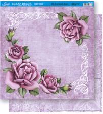 Litoarte - Double Faced Scrap - Roses & Arabescos