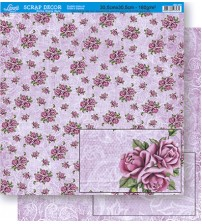 Litoarte - Double Faced Scrap - Pattern Roses/ Arabescos