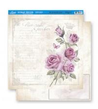 Litoarte - Double Faced Scrap -Vintage Roses