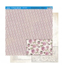 Litoarte - Double Faced Scrap -Pattern Of Small Roses