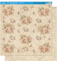 Litoarte - Double Faced Scrap - Stamp Roses/Ornamnetos