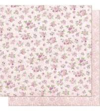 Litoarte - Double Faced Scrap - Pattern Of Roses/ Arbescos Flowers
