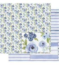 Litoarte - Double Faced Scrap - Blue Flowers