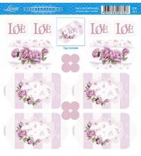 Litoarte -Tags - Rosas Shabby Chic