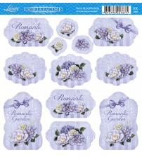 Litoarte - Tags - Flores Diversas E Com Fundo Lilas