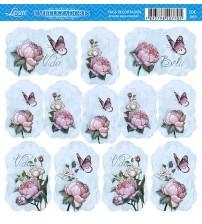 Litoarte - Tags - Flores Diversas E Borboleta