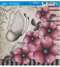 Litoarte  - Scrap Decor - Flowers Vermelhas