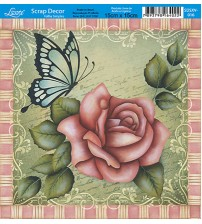 Litoarte  - Scrap Decor -  Roses /Borboleta