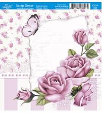 Litoarte  - Scrap Decor -  Roses Shabby Chic & Borboleta