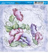 Litoarte - Scrap Decor - Flowers Provencais Moldura Branca