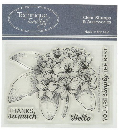Technique Tuseday Stamps - Rhododendro
