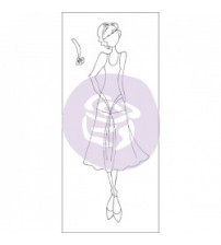 Prima - Julie Nutting-Doll Stamp - Ruby