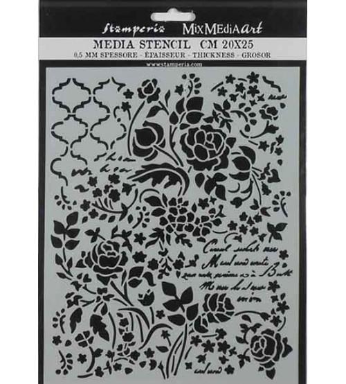 Stamperia Mix Media Art Stencils - KSTD031 - 20x25cm
