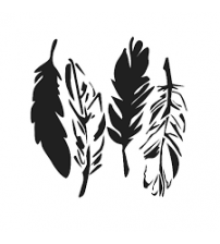 Stencils - Mini 4 Feathers